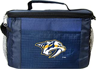 NHL Nashville Predators Insulated Lunch Cooler Bag with Zipper Closure, Navy