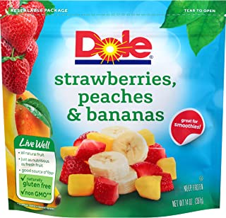 DOLE Frozen Strawberries Peaches and Bananas, 14 Ounce Bag