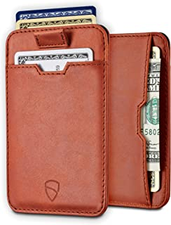 Vaultskin Chelsea ultra-slim leather card-protecting RFID wallet (Cognac)