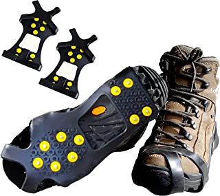 Limm Crampons Ice Traction Cleats - Grips Quickly and Easily Over Footwear for Snow and Ice - Portable -Sizes: S/M/L/XL
