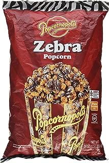 Popcornopolis Zebra Popcorn, 24 Oz