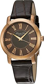 KENNETH COLE WOMEN'S CLASSIC 33MM BROWN LEATHER BAND QUARTZ WATCH 10022551