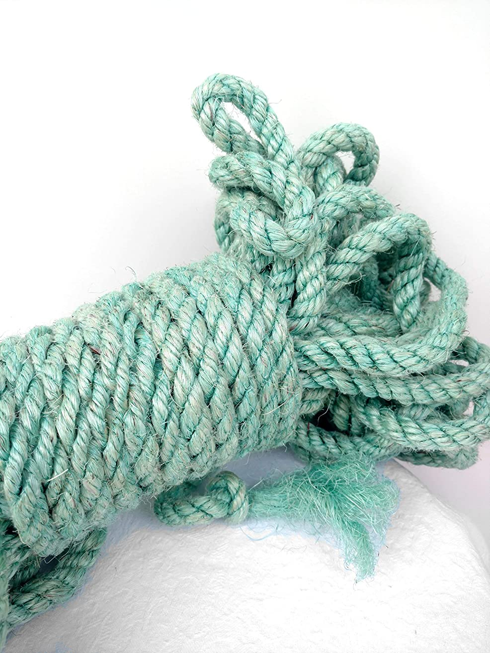 Blue Green Sisal Rope, Dyed Robin's Egg Blue Color: 1/4