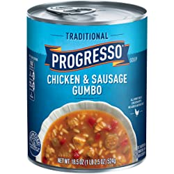 Progresso Soup, Traditional, Chicken & Sausage Gumbo Soup, 18.5 oz