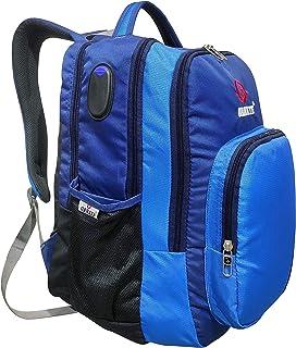 حقيبة ظهر للجنسين مزخرفة (أزرق)