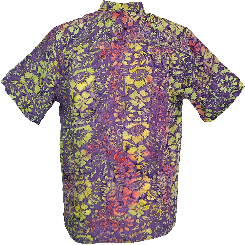 GURU-SHOP, Camisa Hippie, Camisa Hawaiana, Camisa Batik, Sintético, Camisas de Hombre