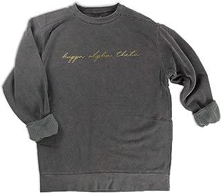 Kappa Alpha Theta Gold Script Comfort Colors Sweatshirt