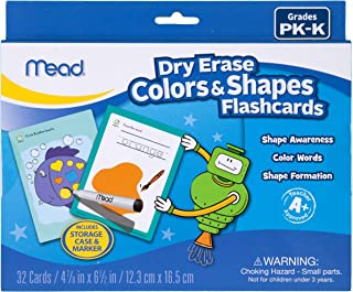 Mead Dry Erase Flashcard Colors and Shapes (63020)