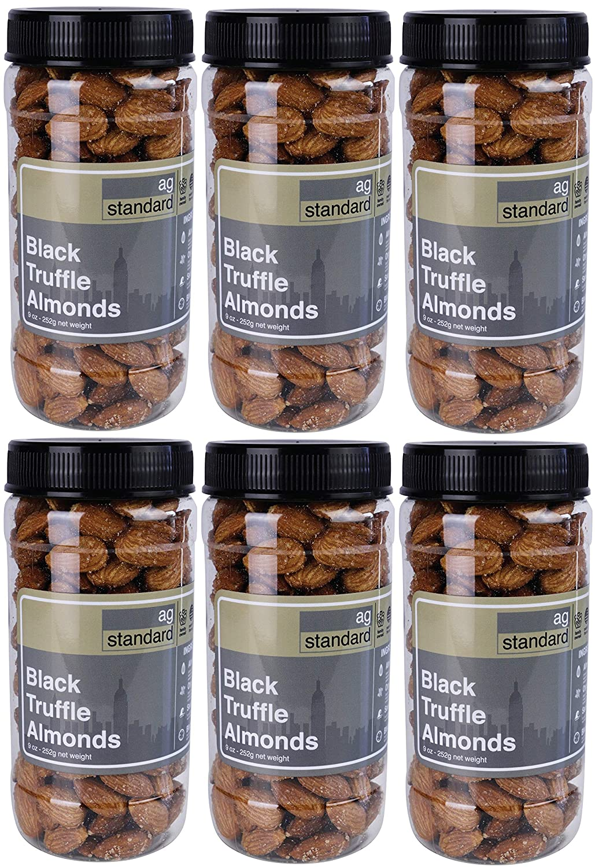 Premium Super intense SALE Large Dry Rare Roasted Black Truffle â Salt Almonds with Sea