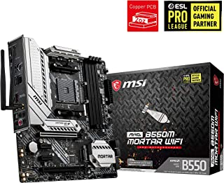MSI mag B550M Mortar WiFi - Placa Base Arsenal Gaming (AMD AM4 DDR4 M.2 USB 3.2 Gen 2 HDMI Micro ATX)