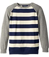 Toobydoo - Rugby Stripe Baseball Sweater (Toddler/Little Kids/Big Kids)