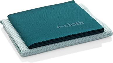E-Cloth Window Cleaning Pack, Microfiber Glass Scrubbing Cloth & Polishing Cloth (Set of 2)