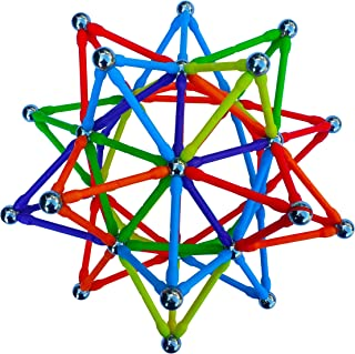 Magz Super 300 Magnetic Building Set consisting of 176 magnetized rods (2.3