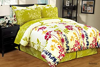 Ultra Soft 8 PC Reversible Bed in a Bag Comforter Set (Queen, Selena)