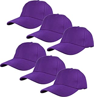 02390e4e Gelante Plain Blank Baseball Caps Adjustable Back Strap Wholesale Lot 6 Pack