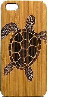 Sea Turtle Case for iPhone SE, iPhone 5 or iPhone 5S | iMakeTheCase Eco-Friendly Bamboo Wood Cover | Tribal Tattoo Ocean Sea Hawaiian
