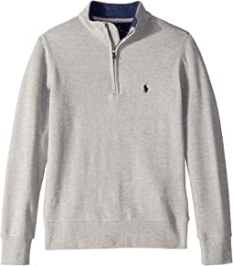 Cotton Mesh 1/2 Zip Pullover (Big Kids)