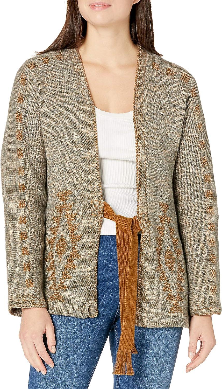 Pendleton Women's Kimono Sleeve Front Tie Cardigan Sweater