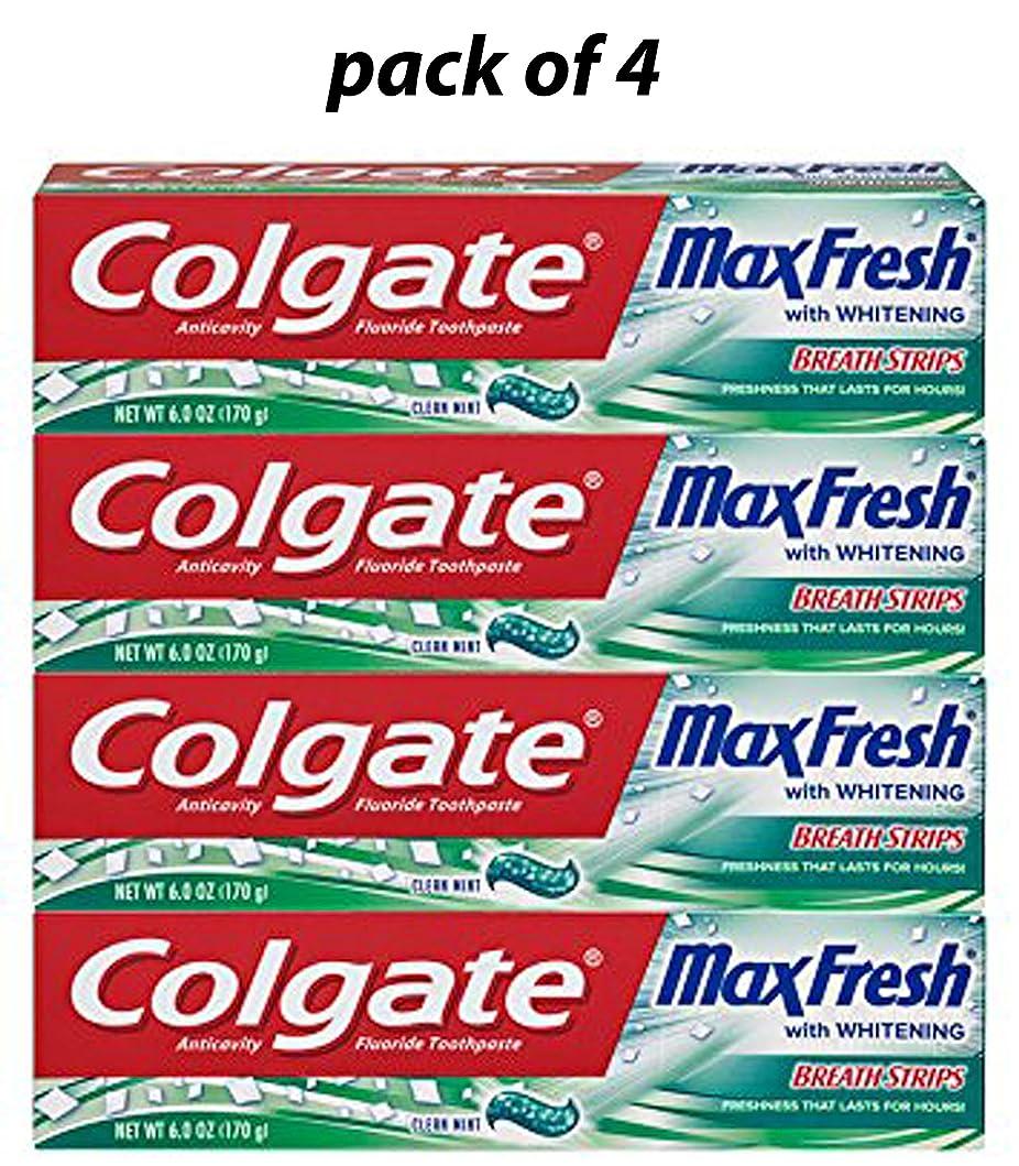 フルーティー検出器自伝Colgate ハミガキクリーンミント6オンスホワイトニングマックス新鮮なミニブレスストリップ(4パック) 4パック