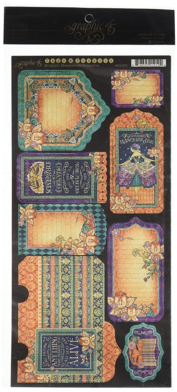 Graphic 45 Midnight Masquerade Cardstock Tags & Pockets