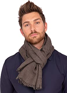 Handwoven Merino Wool Diamond Checks Scarf