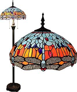 Gweat 16-Inch Tiffany Dragonfly européenne Retro Salon Chambre Villa Bar étude classique de la personnalité de verre color...