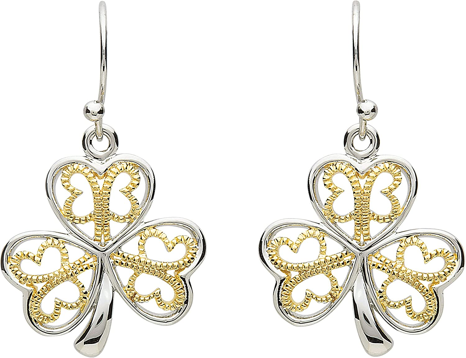 Shanore Max 42% OFF Platinum Animer and price revision Plated Shamrock Earring