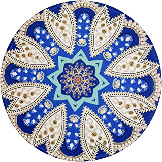 Margoun Vintage Circular Rug Mousepad with Traditional Design , Round Non Slip Rubber Mouse pad with Fast and Accurate Con...