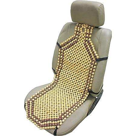Obbomed Sw 7210 Natürliche Holzkugeln Auto Sitzauflage Mit 10cm Längerem Rückenteil Für Schulterbereich Extra Starke Nylonschnur Angenehme Luftzirkulation Und Sanfte Massage 132 X 38 5 Cm Baby