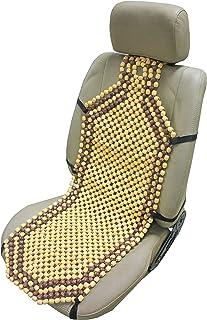 ObboMed SW 7210 Natürliche Holzkugeln Auto Sitzauflage, mit 10cm längerem Rückenteil für Schulterbereich, extra Starke Nylonschnur, angenehme Luftzirkulation und sanfte Massage   132 x 38.5 cm