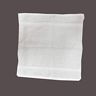 DEYARCO Princes Terry 100% Cotton Face Towel 30 x 30 cm Super Soft Quick Dry Highly Absorbent Dobby Border Ring Spun Cotto...