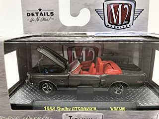 M2 Machines 1 of 750 Worldwide Chase Car with Gold Or Special Wheels & Unique Design Titanium 1968 Shelby GT500KR 1:64 Scale WMTS06 16-15 Titanium Nickel Details Like NO Other! 1 of 750