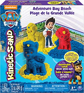 PAW PATROL Patrol-6027965 Kinetic Sand, Color Azul, Rojo, Amarillo (Spin Master 6027965)