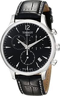 Tissot Men's T063.617.16.057.00 Black Dial Tradition Watch
