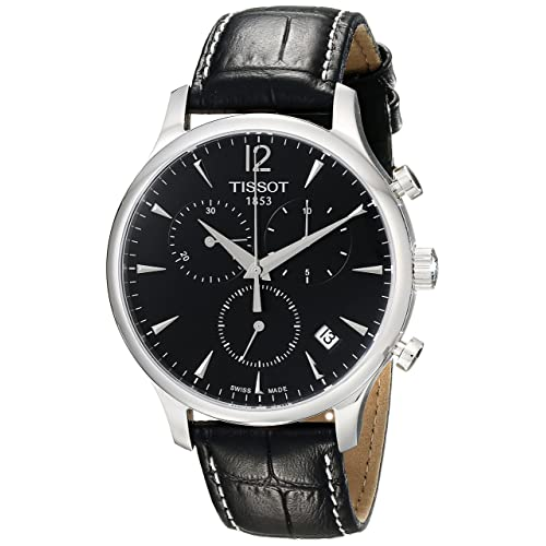 Tissot Mens T063.617.16.057.00 Black Dial Tradition Watch