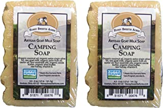 Essential Oil Goat Milk Natural Insect-Repellent CAMPING Bar Soap - Formulated specifically with a powerhouse of four anti-insect essential oils (Pack of 2)