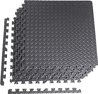 CAP Barbell 6-Piece Puzzle Exercise Mat, Black, 1/2