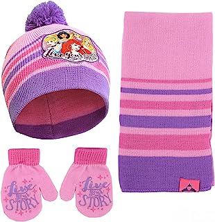 کلاه ، روسری و دستکش شاهزاده خانمهای دیزنی یا ست آب و هوای سرد میتن