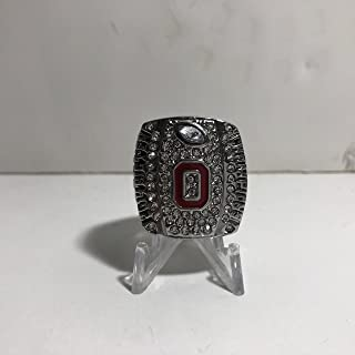 2014 Cardale Jones Ohio State High Quality Replica 2014 Big Ten Championship Ring Size 11-Silver Color US SHIPPING