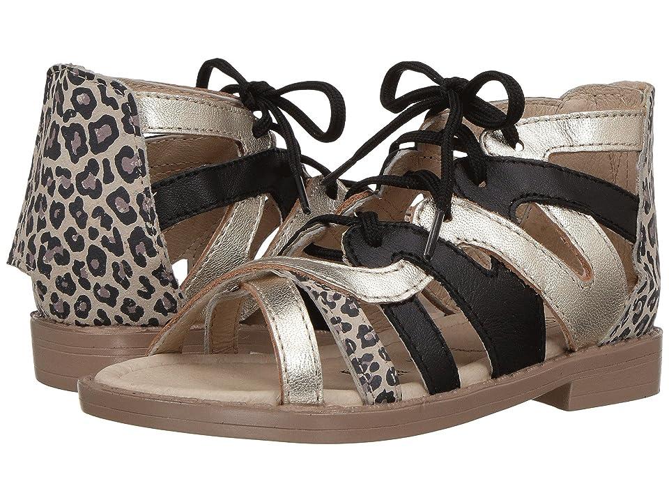 Old Soles Swirl Sandal (Toddler/Little Kid) (Cat/Gold/Black) Girls Shoes
