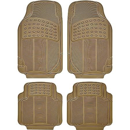 SUMEX SAND400 con Ponticello Beige Scuro Anteriori e Posteriori con Antiscivolo e ritagliabili Set di 3 tappetini universali in Gomma