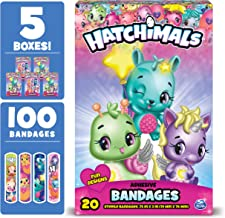 Hatchimals Kids Bandages, 100 ct   Adhesive Antibacterial Bandages for Minor Cuts, Scrapes, Burns. Great Stocking Stuffer or White Elephant