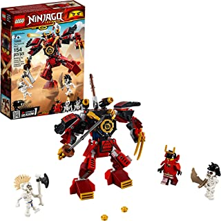 LEGO NINJAGO Legacy Samurai Mech 70665 Toy Mech Building Kit  comes with NINJAGO Minifigures, Stud Shooters and a Toy Sword for Imaginative Play, 2019 (154 Pieces)