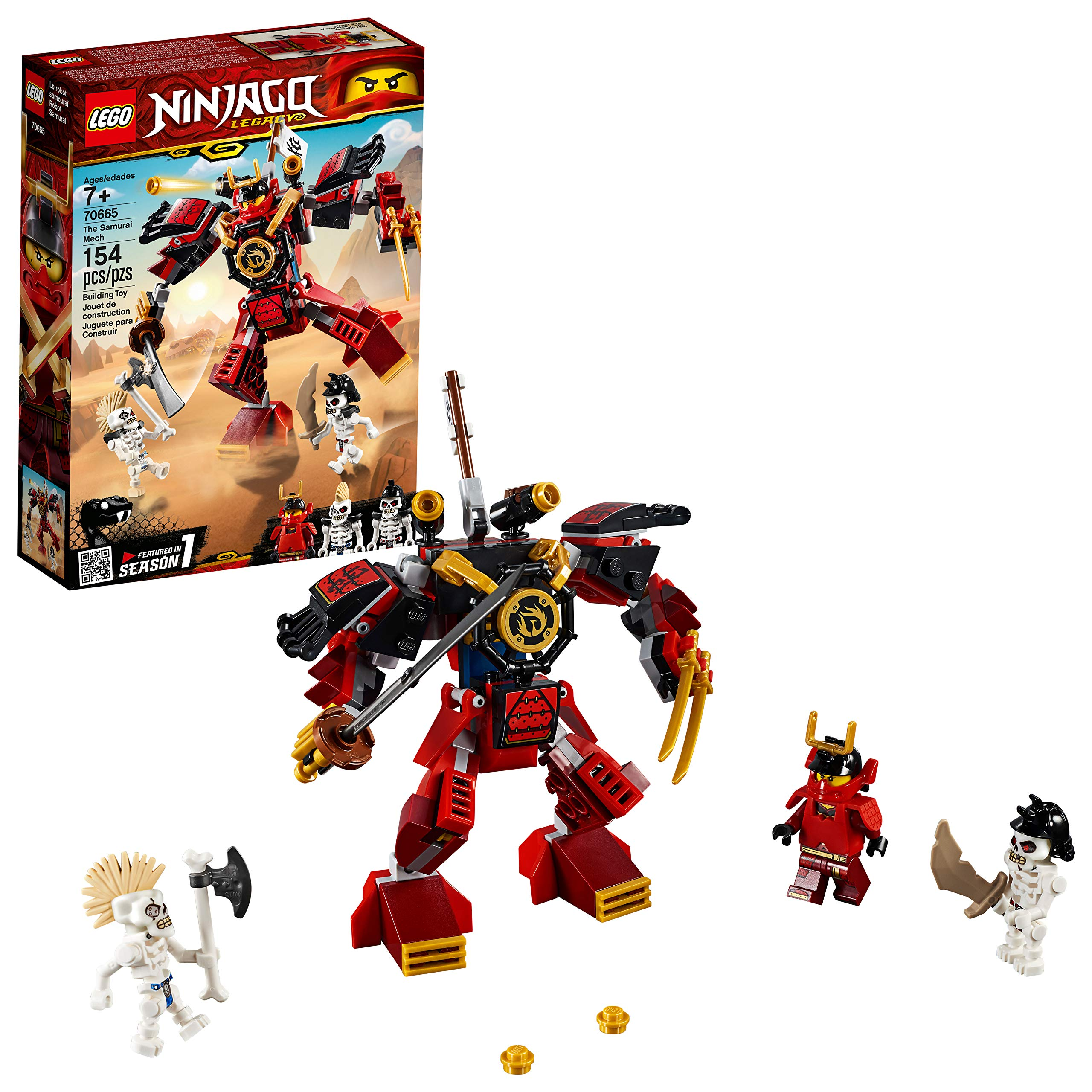 Lego Ninjago Legacy Samurai Mech 70665 Toy Mech Building Kit Comes With Ninjago Minifigures Stud Shooters And A Toy Sword For Imaginative Play 154 Pieces Buy Online At Best Price In Uae