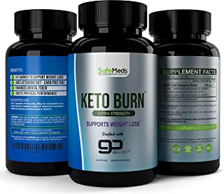 SafeMeds Keto Burn Pills- Extra Strength Weight Loss Supplement & Fat Burner- Boost Energy and Metabolism- Burn Fat Instead of Carbs