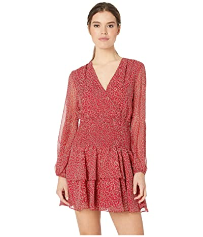Bardot Ditsy Shirred Dress (Red Paisley) Women