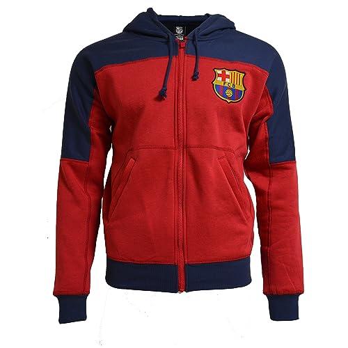 Fc Barcelona Hoodie Adults Zip Front Fleece Sweatshirt Jacket Blue (M) f3229c62a