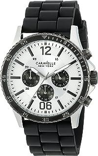 Caravelle New York Men's 45A126 Analog Display Quartz Black Watch