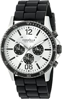 Caravelle New York Men's 45A126 Analog Display Quartz Black Watch