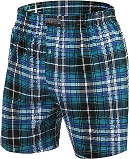 Pijama Pantalon Corto Hombre Algodón 1-2 Pack Pantalón de Dormir Cuadros o Liso